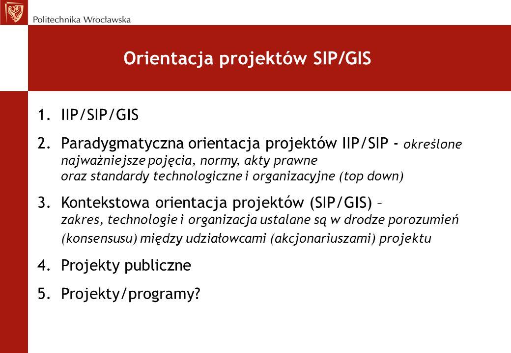 Orientacja projektów SIP/GIS