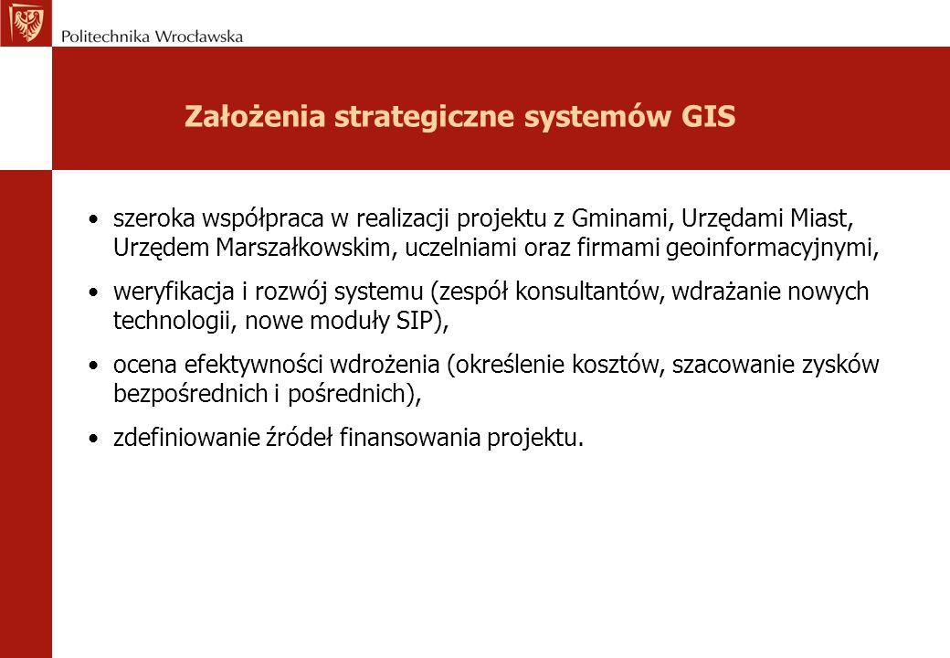 Założenia strategiczne systemów GIS