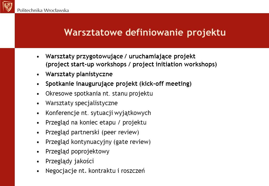 Warsztatowe definiowanie projektu