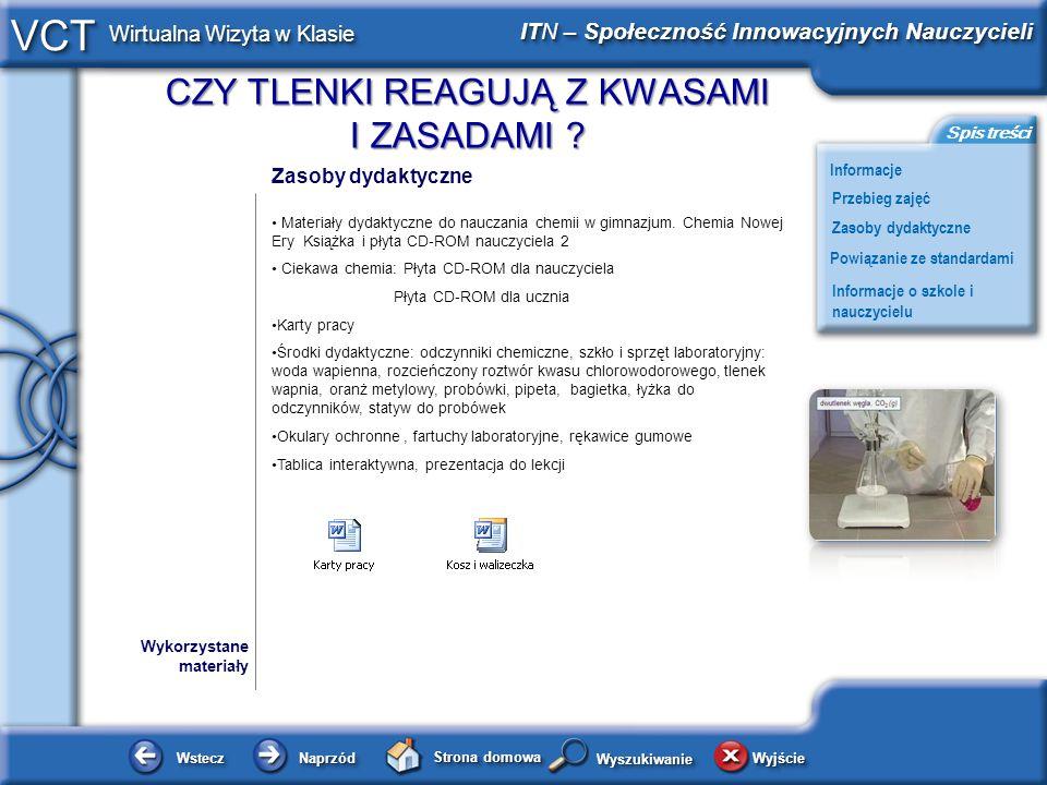 • Ciekawa chemia: Płyta CD-ROM dla nauczyciela Płyta CD-ROM dla ucznia