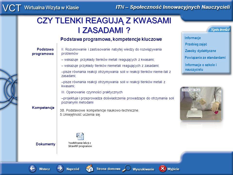 – wskazuje przykłady tlenków metali reagujących z kwasami;