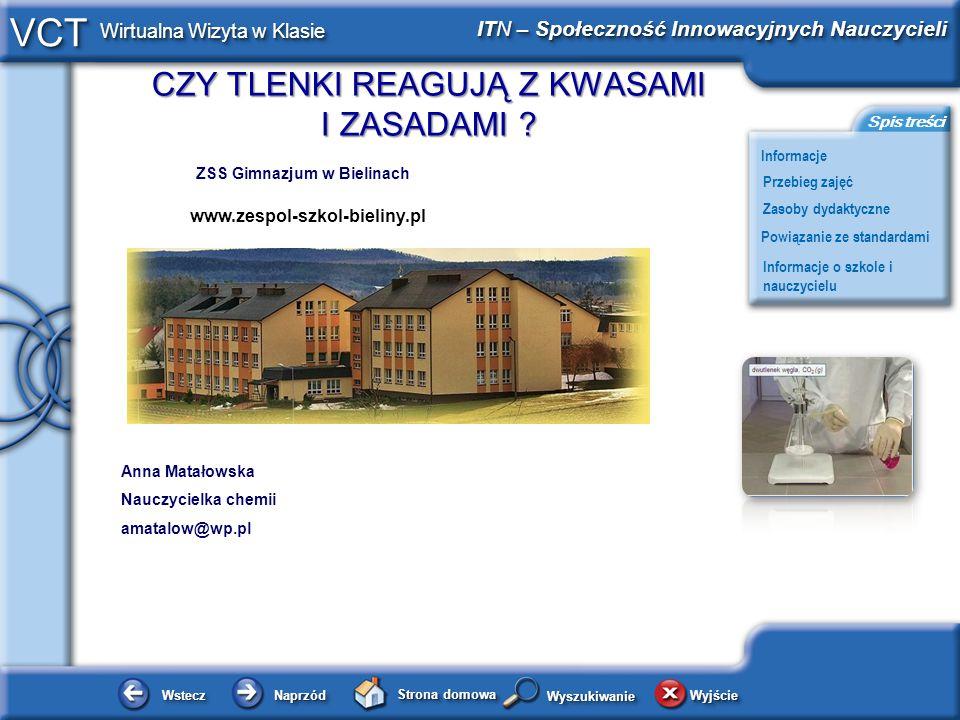 www.zespol-szkol-bieliny.pl ZSS Gimnazjum w Bielinach Anna Matałowska