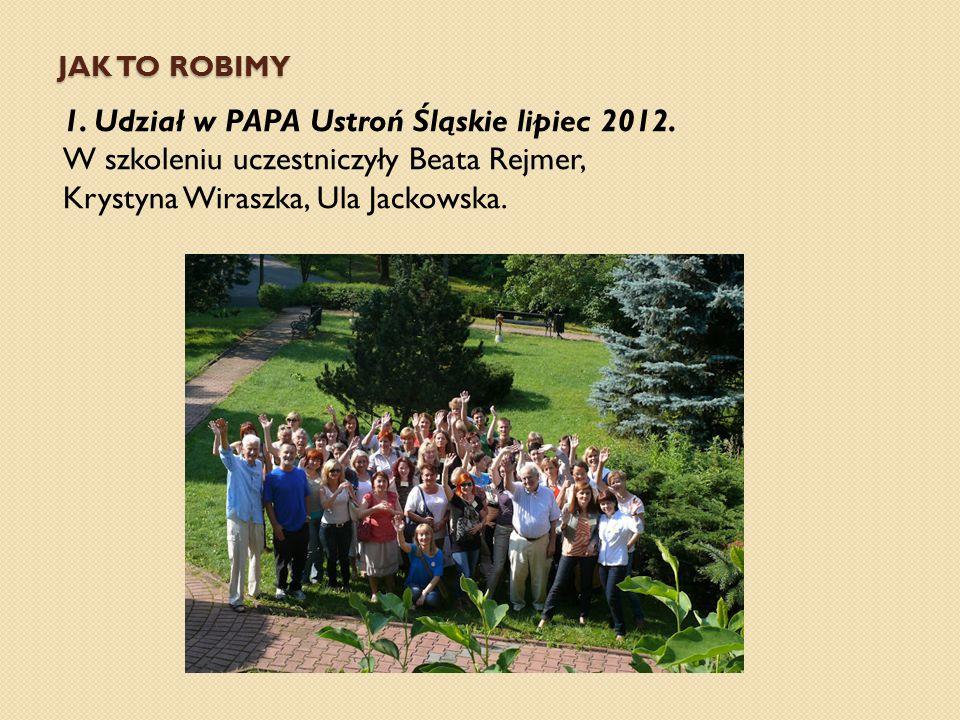 1. Udział w PAPA Ustroń Śląskie lipiec 2012.