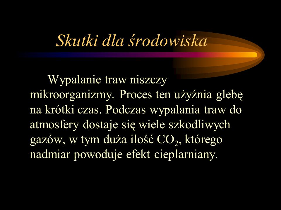 Skutki dla środowiska