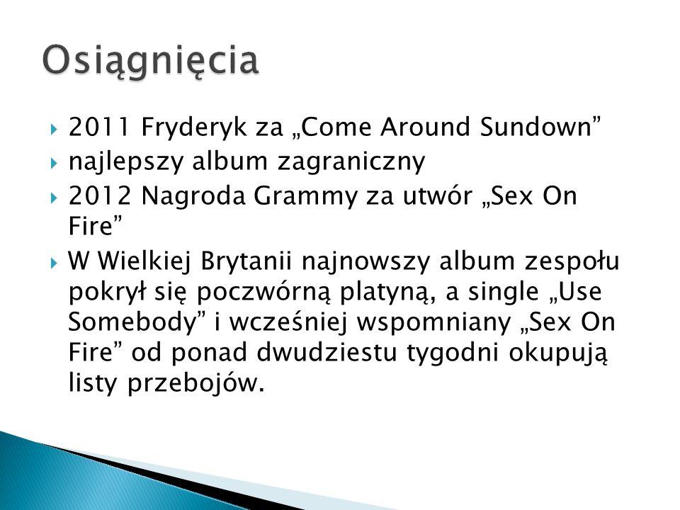 """Osiągnięcia 2011 Fryderyk za """"Come Around Sundown"""