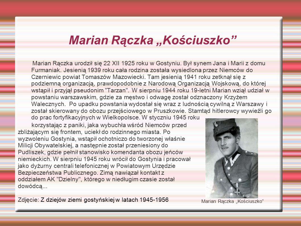 """Marian Rączka """"Kościuszko"""