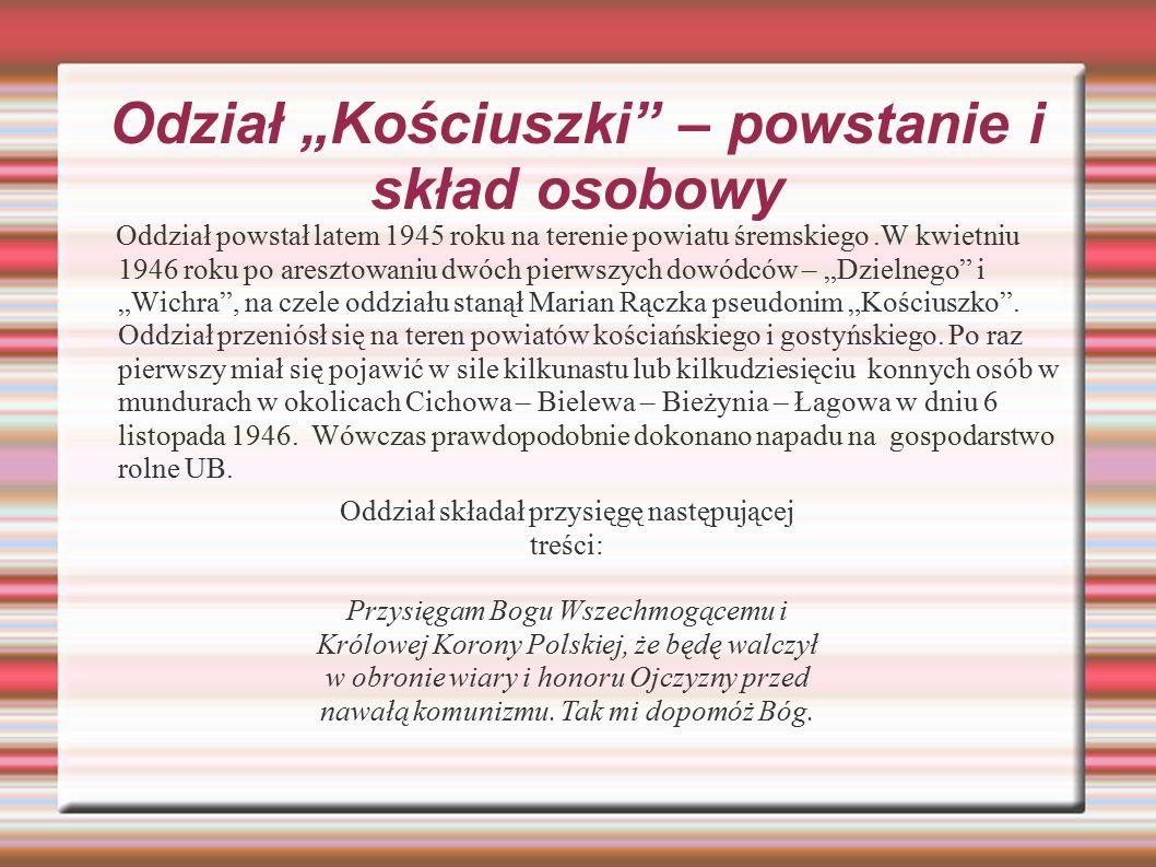 """Odział """"Kościuszki – powstanie i skład osobowy"""
