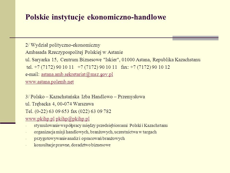 Polskie instytucje ekonomiczno-handlowe