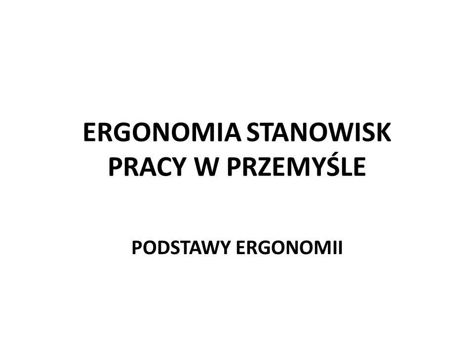ERGONOMIA STANOWISK PRACY W PRZEMYŚLE