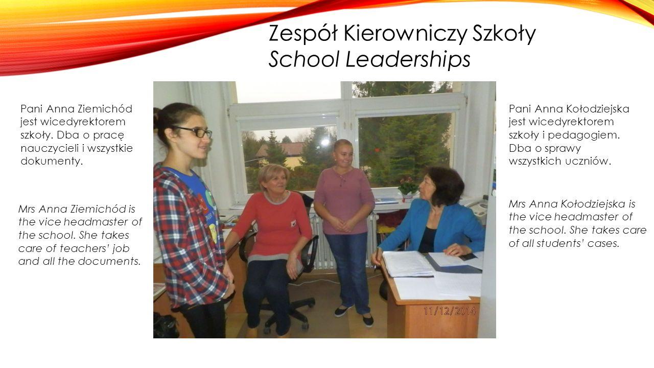 Zespół Kierowniczy Szkoły School Leaderships