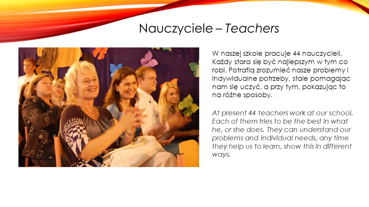 Nauczyciele – Teachers