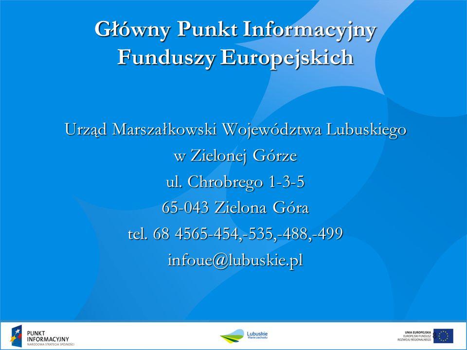 Główny Punkt Informacyjny Funduszy Europejskich