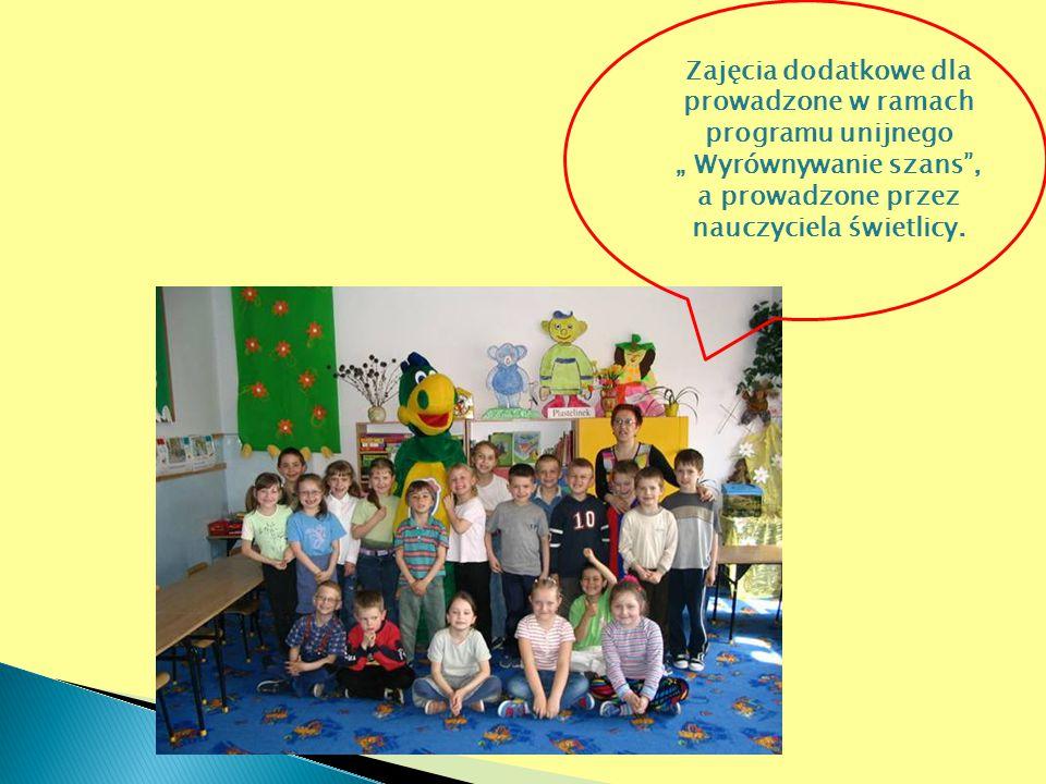 Zajęcia dodatkowe dla prowadzone w ramach programu unijnego