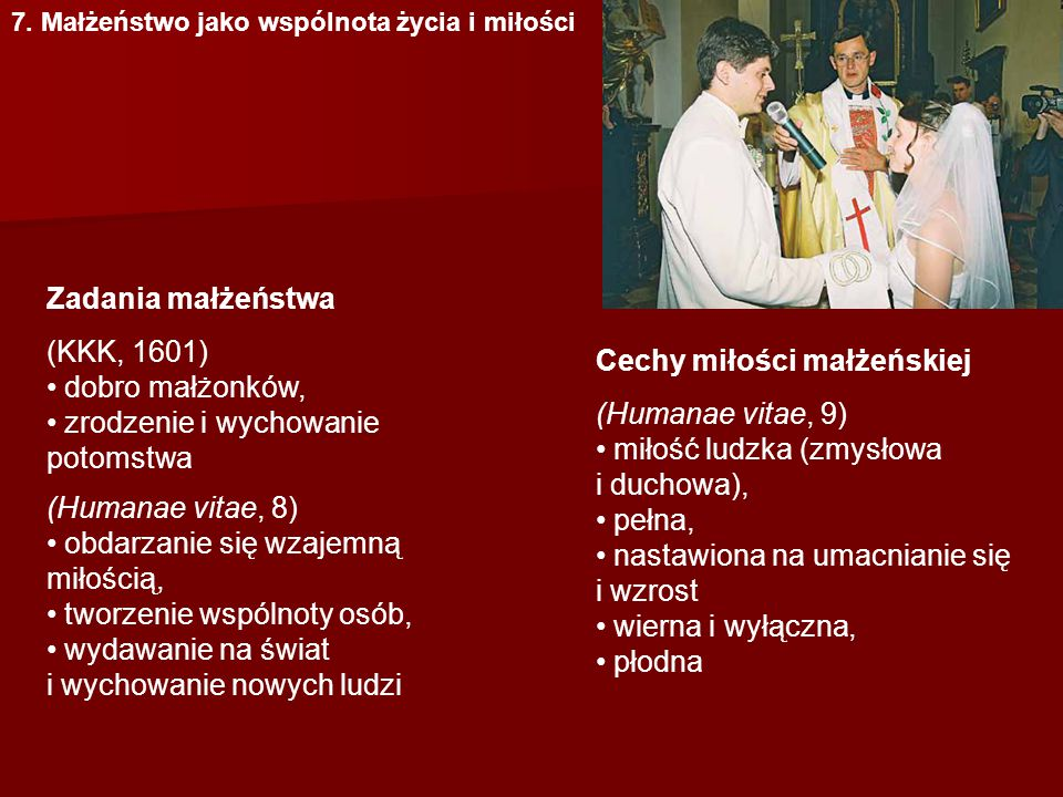 zrodzenie i wychowanie potomstwa (Humanae vitae, 8)
