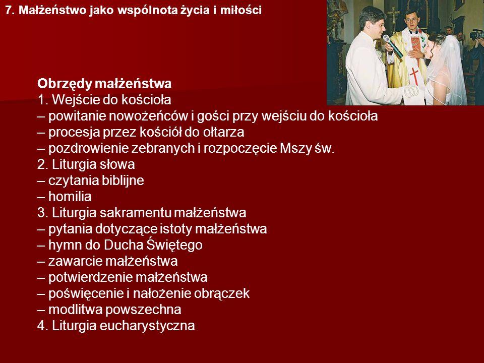 – powitanie nowożeńców i gości przy wejściu do kościoła