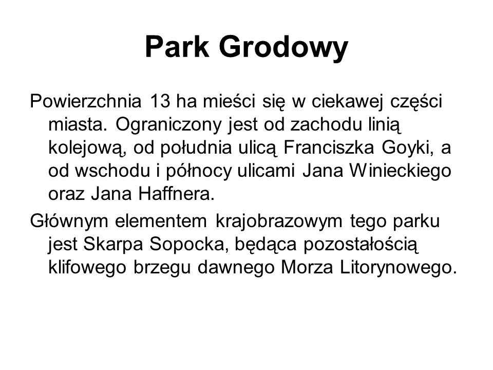 Park Grodowy