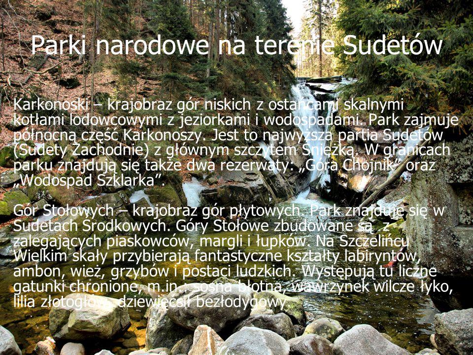 Parki narodowe na terenie Sudetów