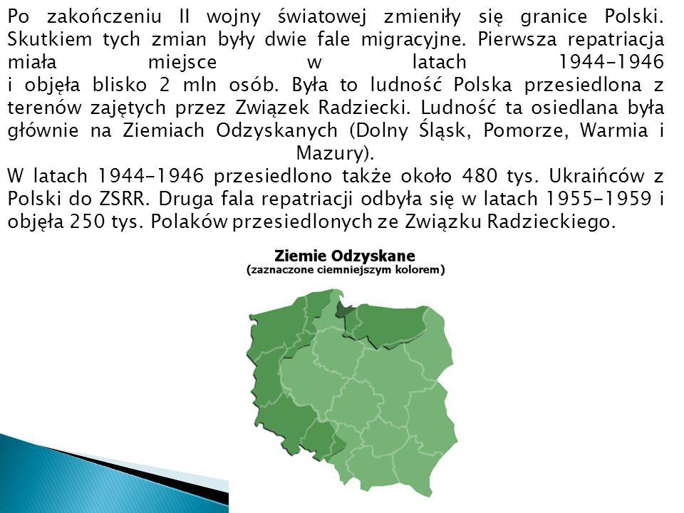 Po zakończeniu II wojny światowej zmieniły się granice Polski