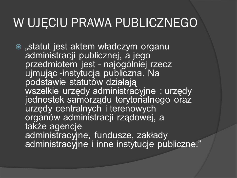 W UJĘCIU PRAWA PUBLICZNEGO