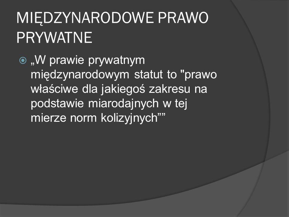 MIĘDZYNARODOWE PRAWO PRYWATNE