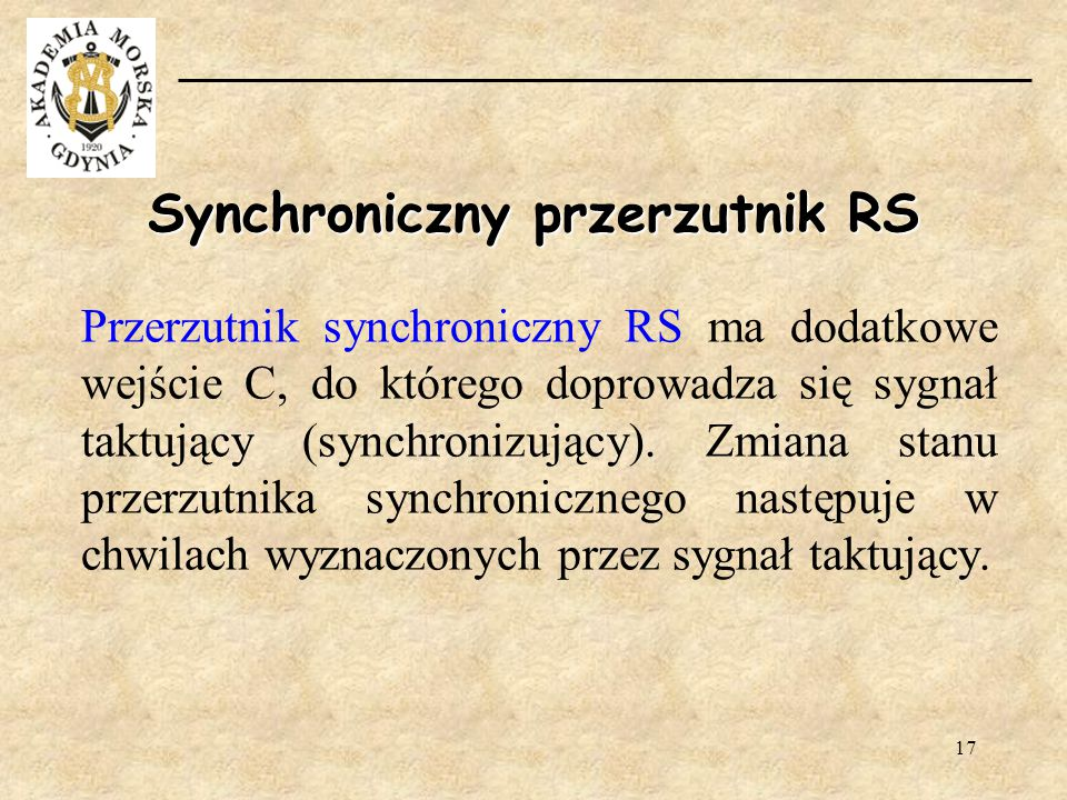 Synchroniczny przerzutnik RS