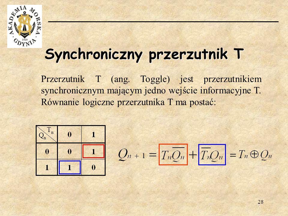 Synchroniczny przerzutnik T