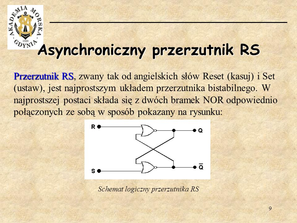 Asynchroniczny przerzutnik RS