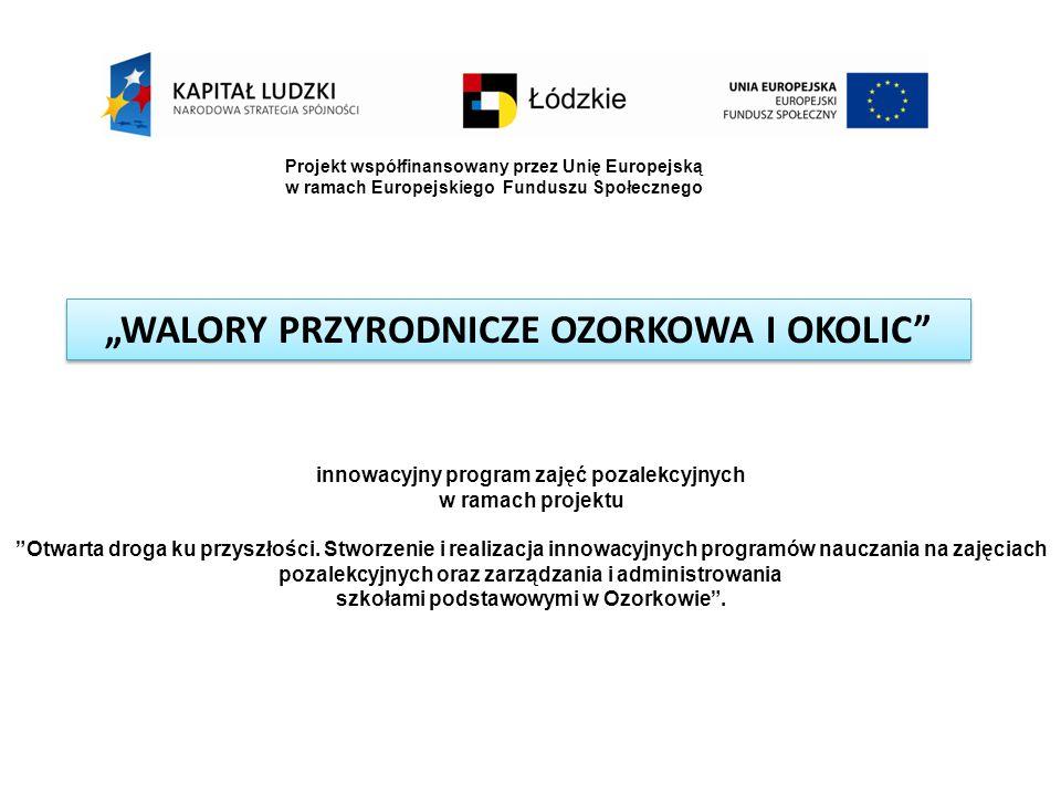 """""""WALORY PRZYRODNICZE OZORKOWA I OKOLIC"""