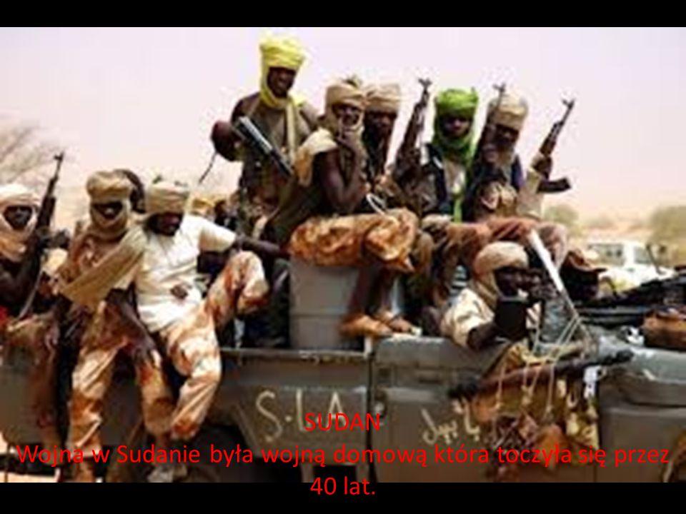 Wojna w Sudanie była wojną domową która toczyła się przez 40 lat.