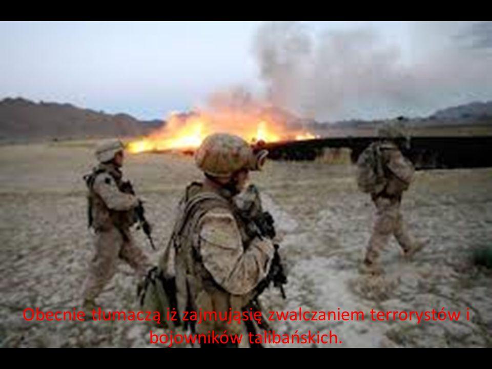 Obecnie tłumaczą iż zajmująsię zwalczaniem terrorystów i bojowników talibańskich.