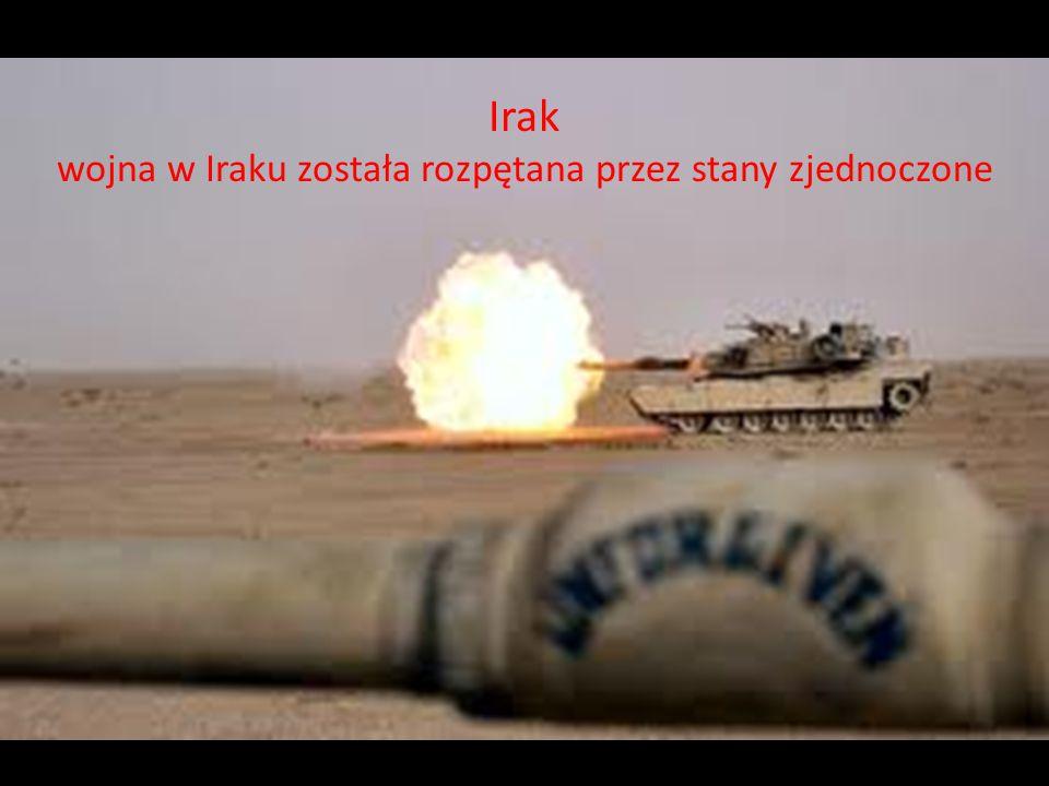 wojna w Iraku została rozpętana przez stany zjednoczone