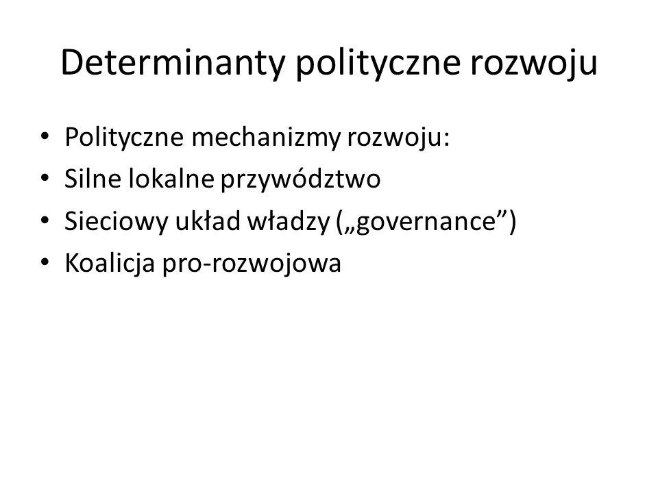Determinanty polityczne rozwoju