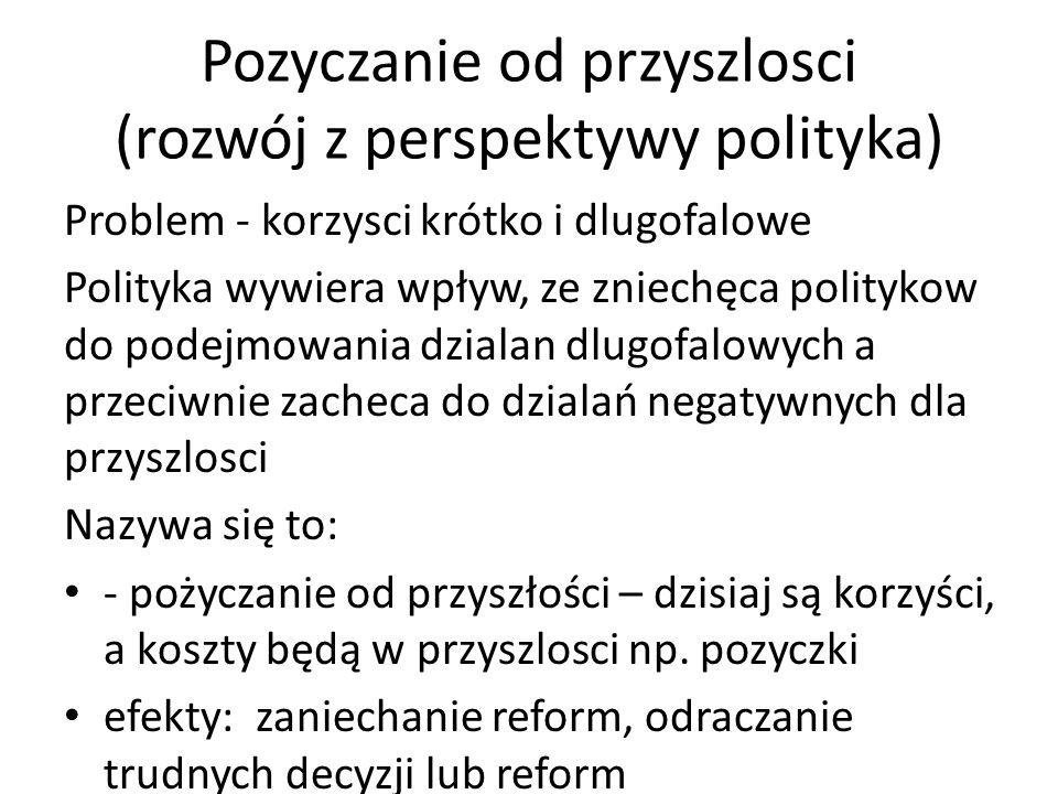 Pozyczanie od przyszlosci (rozwój z perspektywy polityka)