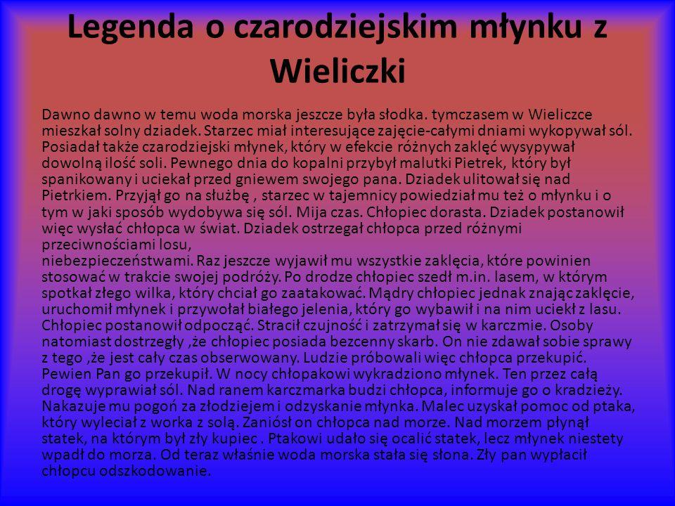 Legenda o czarodziejskim młynku z Wieliczki