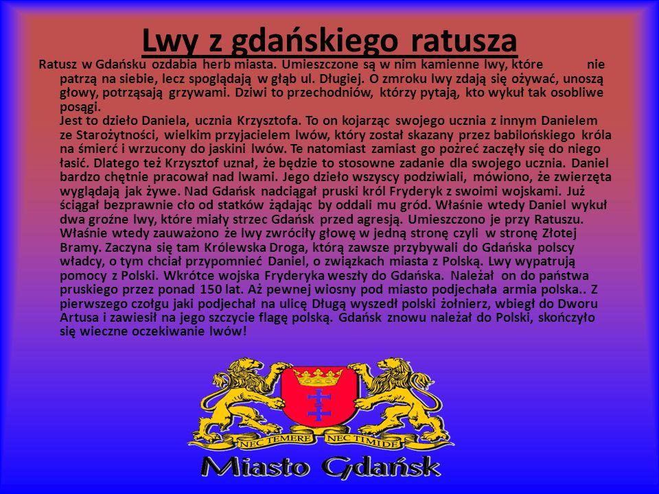 Lwy z gdańskiego ratusza