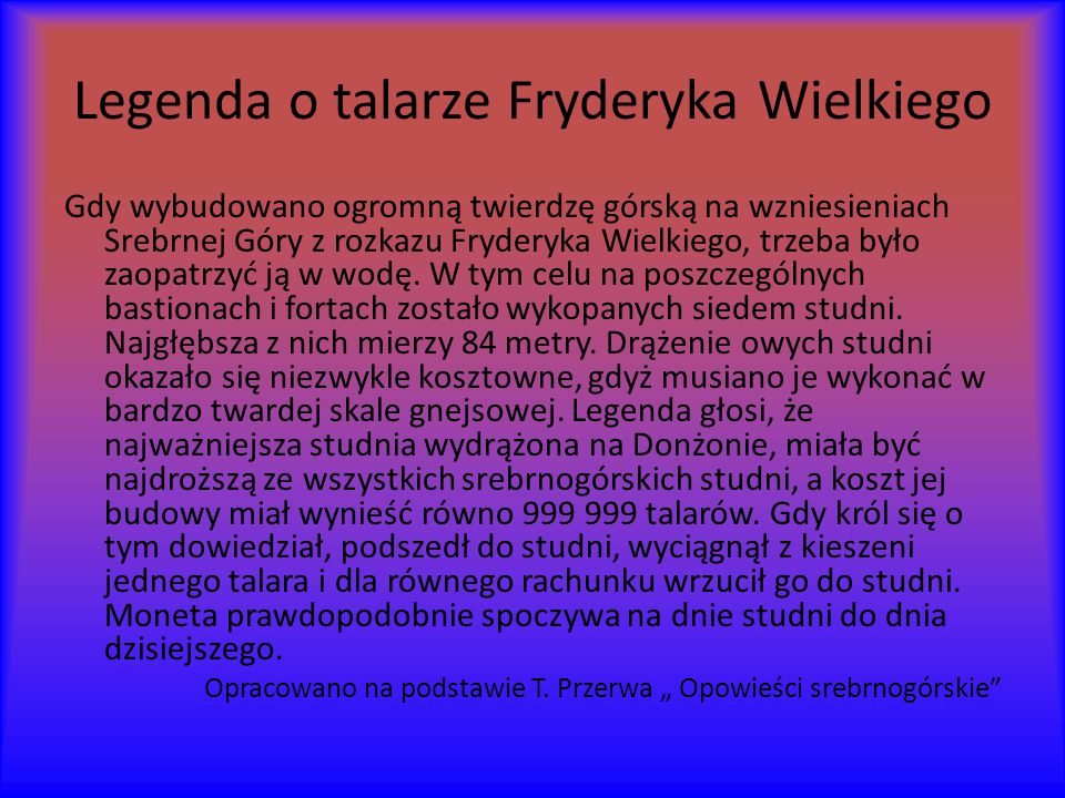 Legenda o talarze Fryderyka Wielkiego