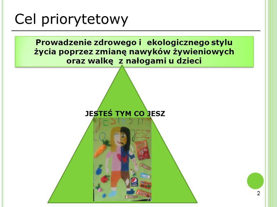 Cel priorytetowy Prowadzenie zdrowego i ekologicznego stylu