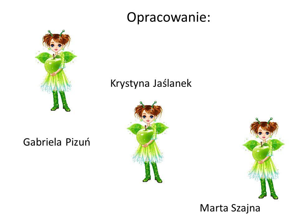 Opracowanie: Krystyna Jaślanek Gabriela Pizuń Marta Szajna