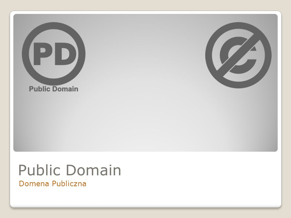 Public Domain Domena Publiczna