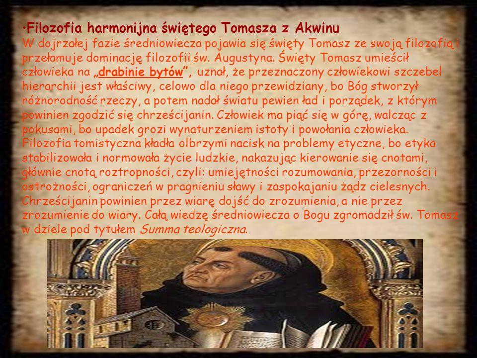 Filozofia harmonijna świętego Tomasza z Akwinu