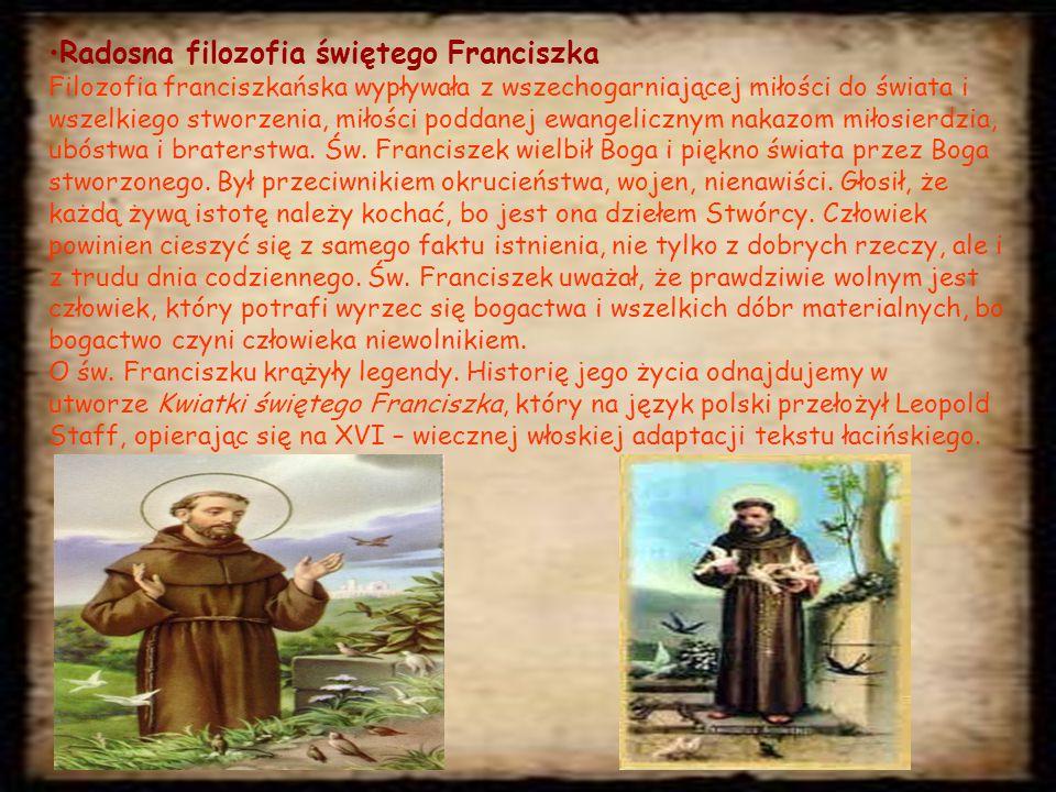 Radosna filozofia świętego Franciszka