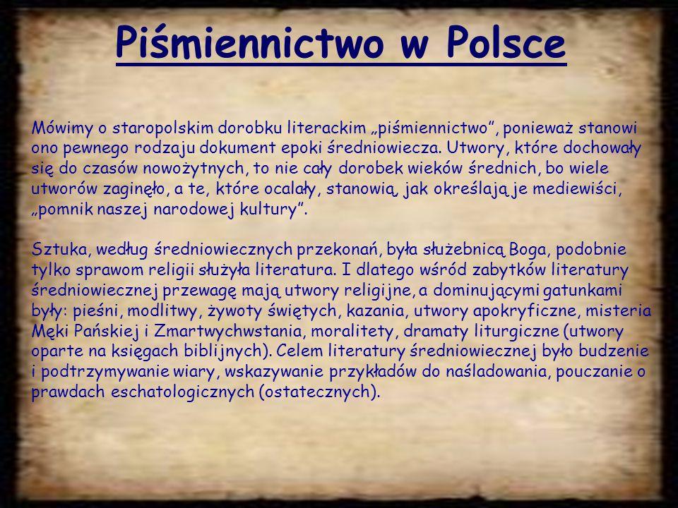 Piśmiennictwo w Polsce