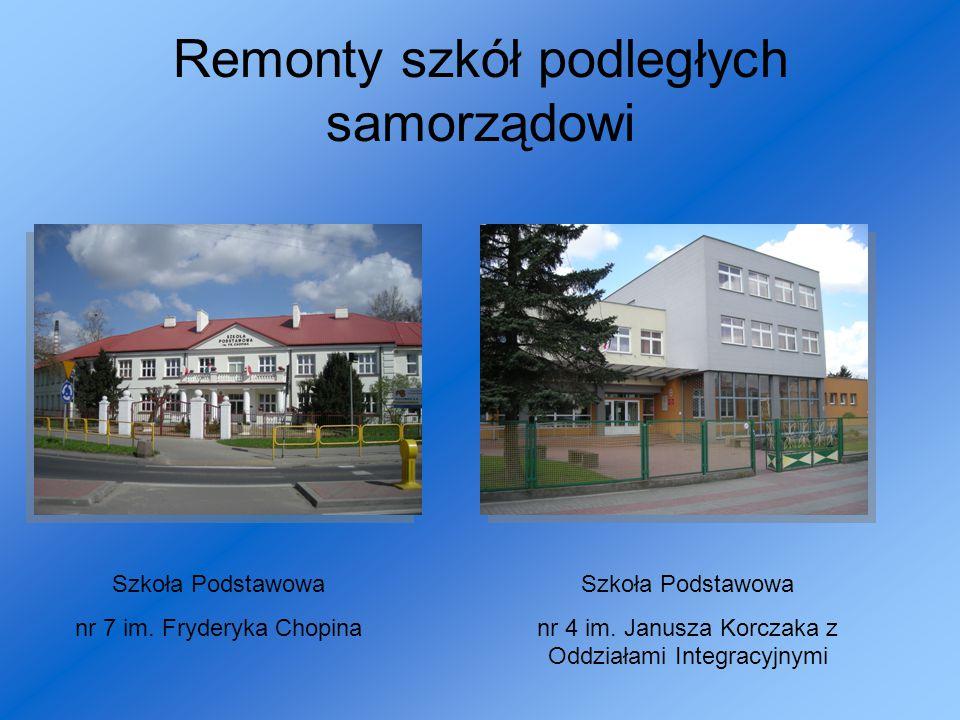 Remonty szkół podległych samorządowi