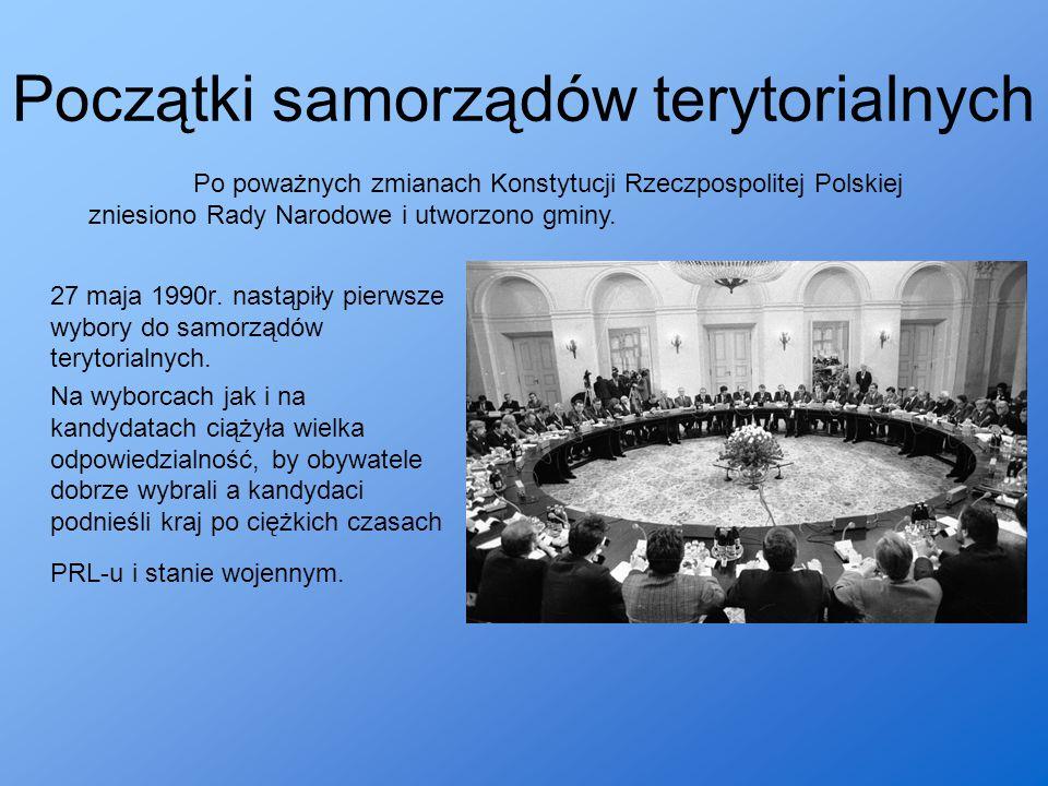 Początki samorządów terytorialnych