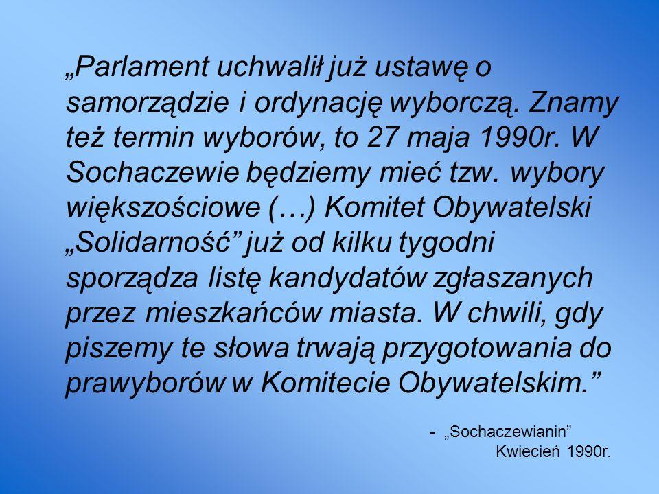 """""""Parlament uchwalił już ustawę o samorządzie i ordynację wyborczą"""