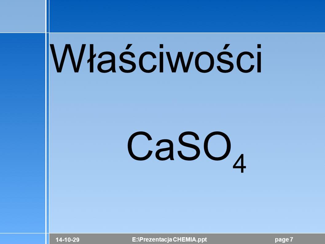 Właściwości CaSO4