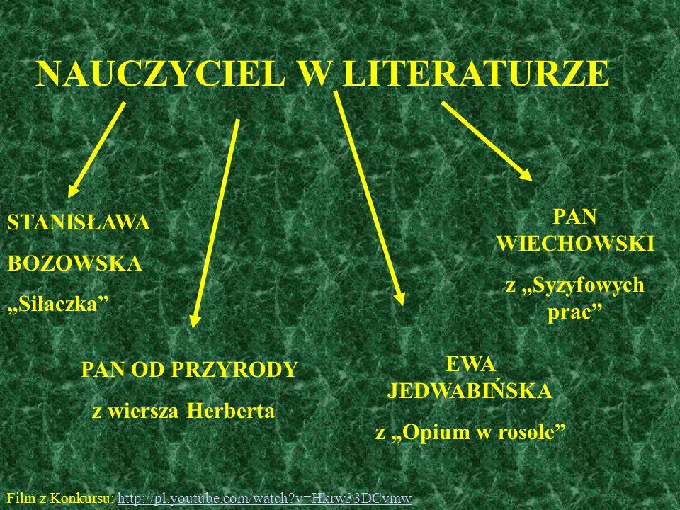NAUCZYCIEL W LITERATURZE