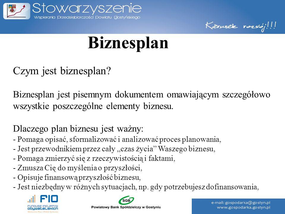 Biznesplan Czym jest biznesplan