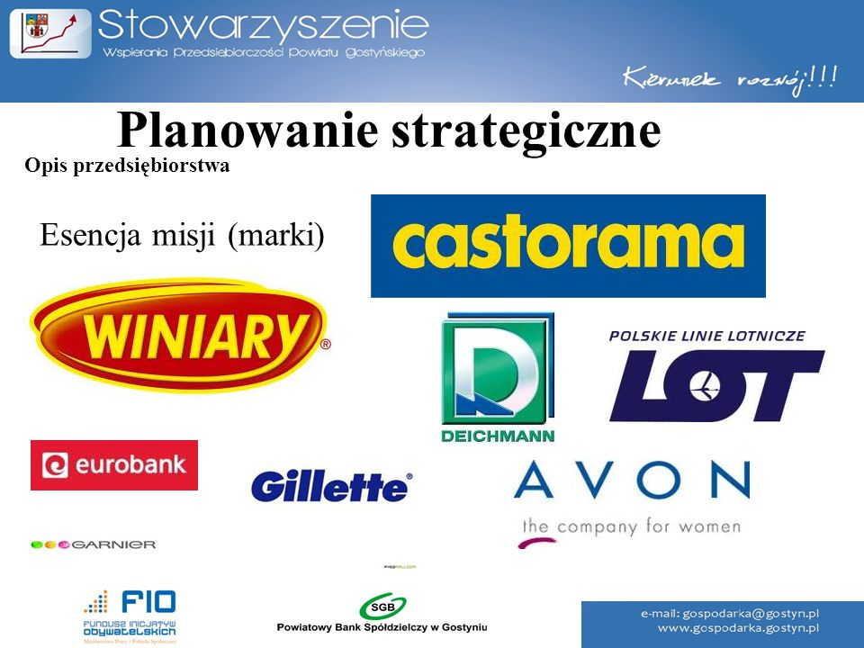 Planowanie strategiczne Opis przedsiębiorstwa