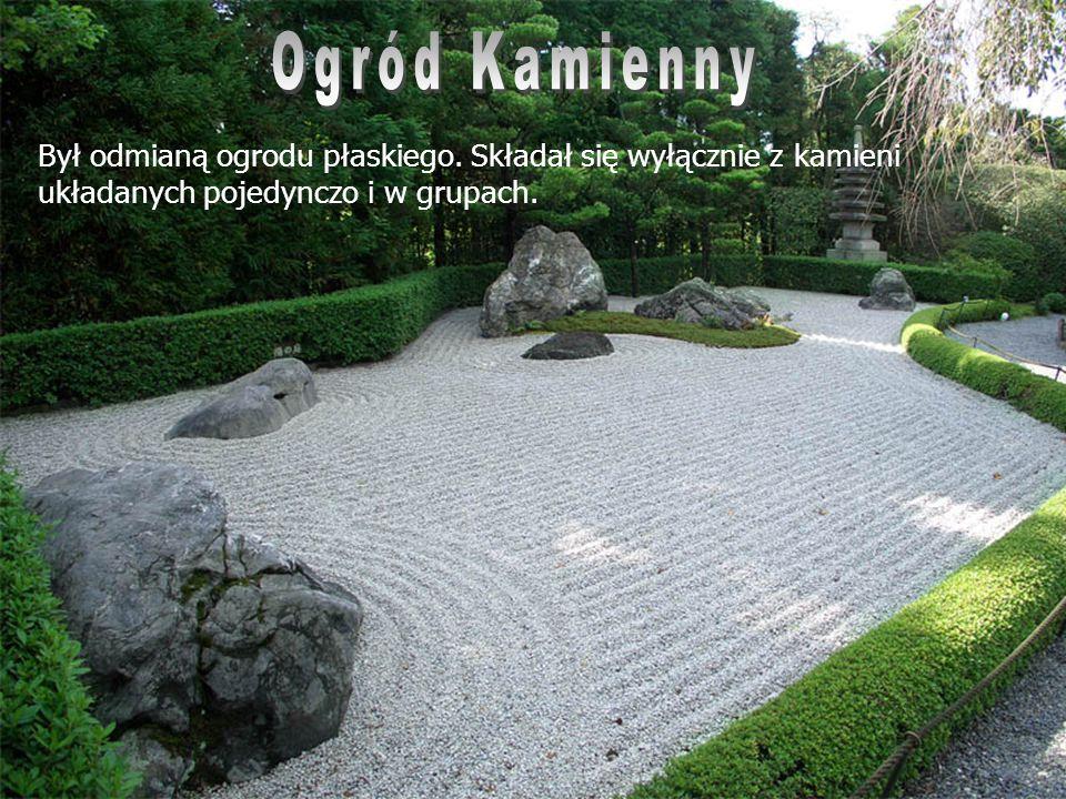 Ogród Kamienny Był odmianą ogrodu płaskiego.